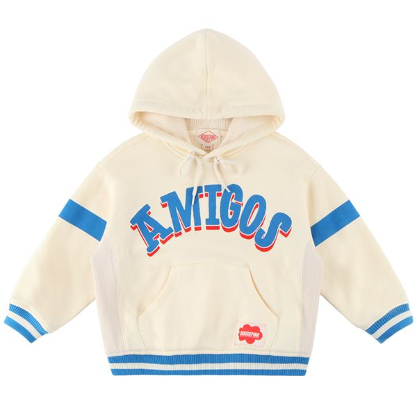 Amigos drop shoulder hooded sweatshirt