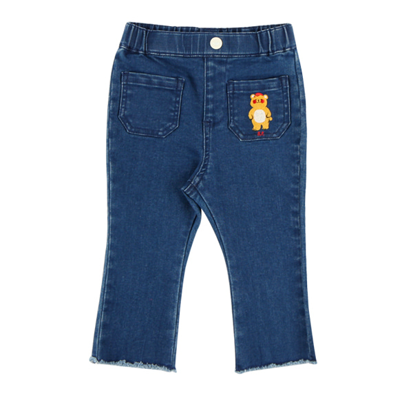 Bear baby boots cut denim pants