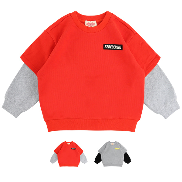 Basic bebedepino double sleeve sweatshirt