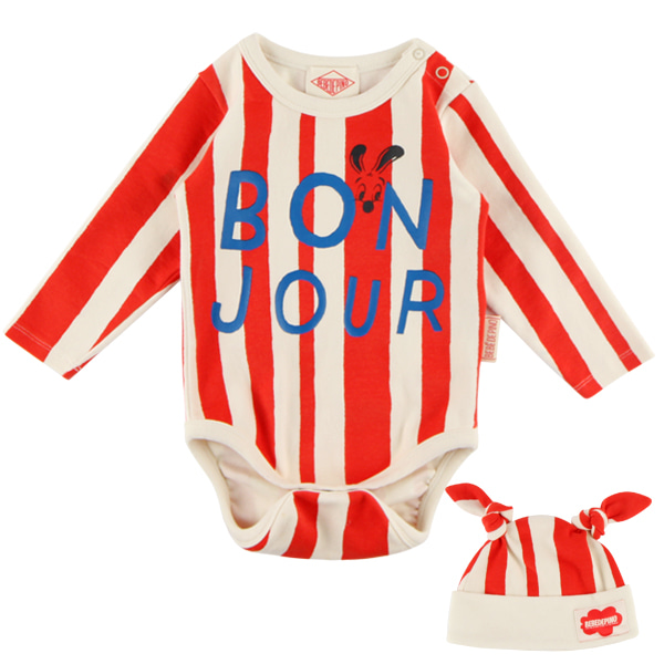 Bonjour baby stripe bodysuit set  NEW FALL