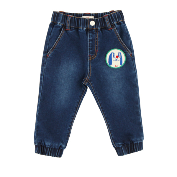 Puppy baby denim jogger pants