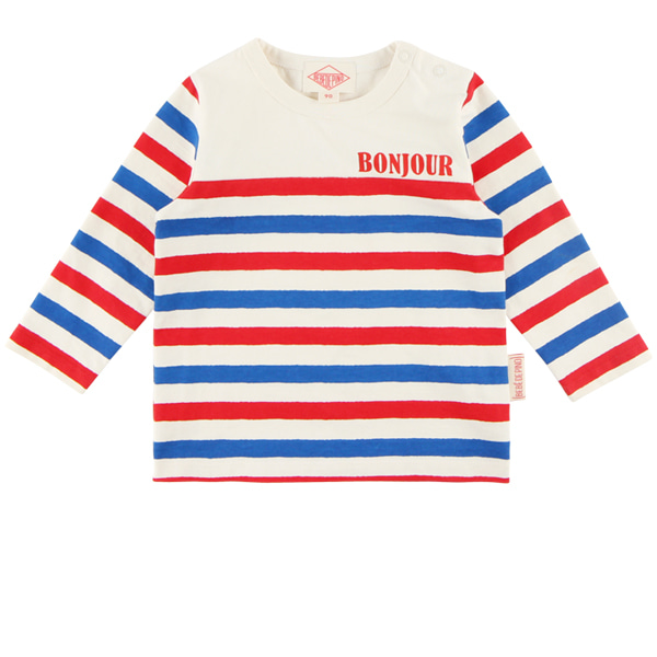 Bonjour baby multi stripe tee  NEW FALL