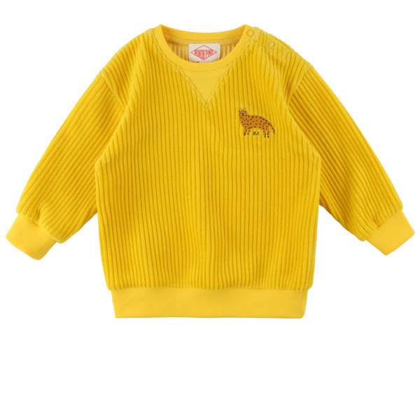 Cheetah baby velour sweatshirt