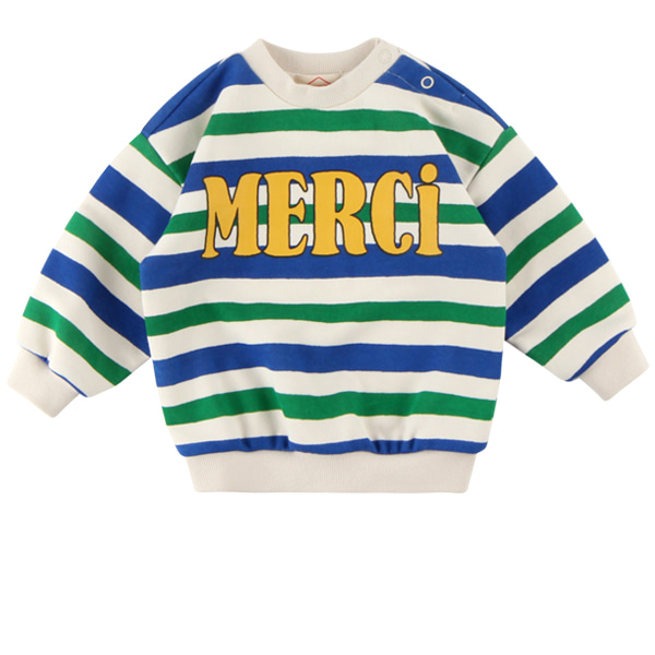 Multi stripe merci baby loose fit sweatshirts  NEW FALL