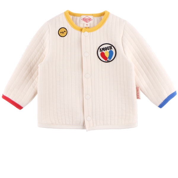 Amour baby quilted cardigan