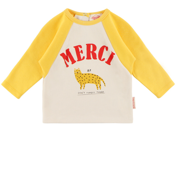 Merci cheetah baby raglan long sleeve tee