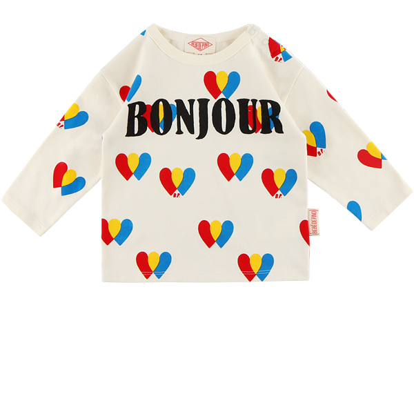 Multi heart baby long sleeve tee  NEW FALL
