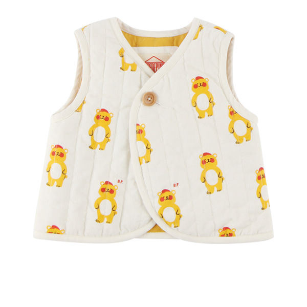 Multi bear baby corduroy padding vest