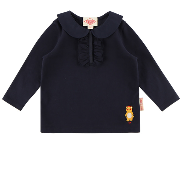 Bear baby ruffle collar tee  NEW FALL