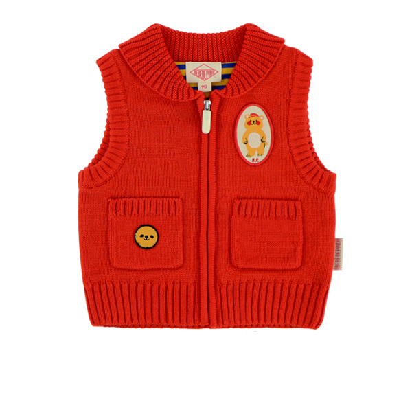 Bear baby sweater vest