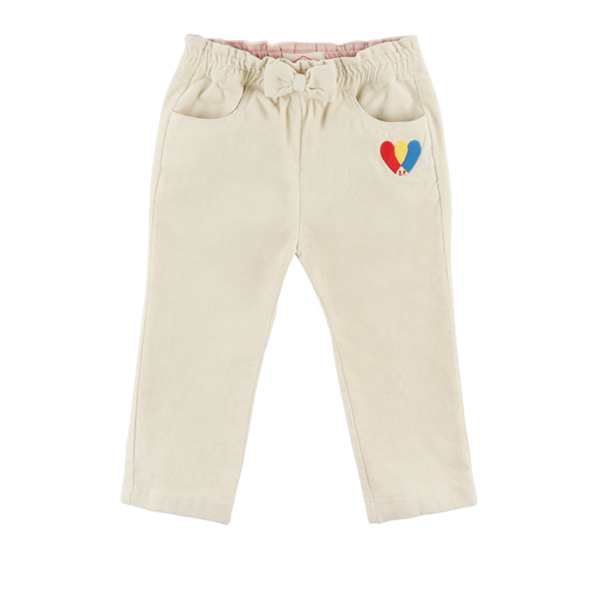 Heart baby ribbon woven pants