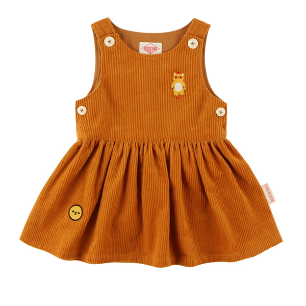 Bear baby corduroy dress