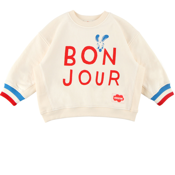 Bonjour loose fit sweatshirt  NEW FALL