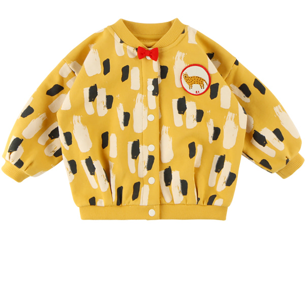 Yellow camo baby volume sweat jacket