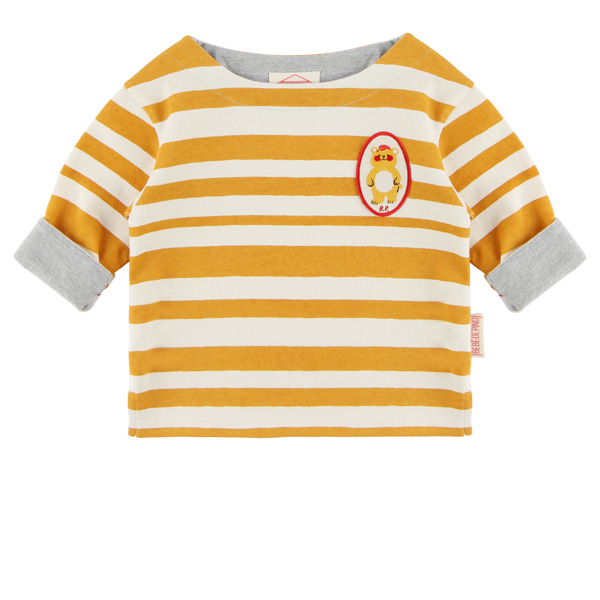 Bear baby stripe long sleeve tee