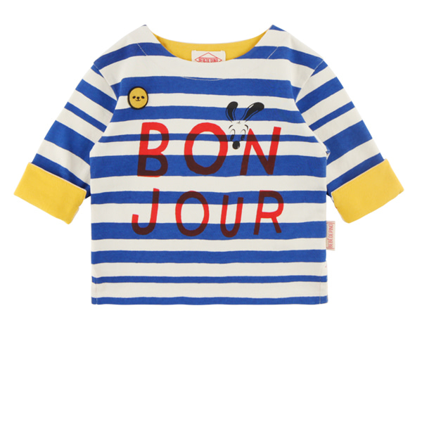 Bonjour baby stripe long sleeve tee  NEW FALL