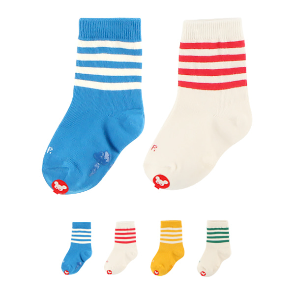 Colorful stripe 2 piece socks set