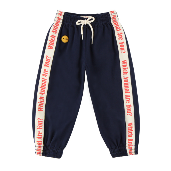 Lettering washing cotton jogger pants  NEW FALL