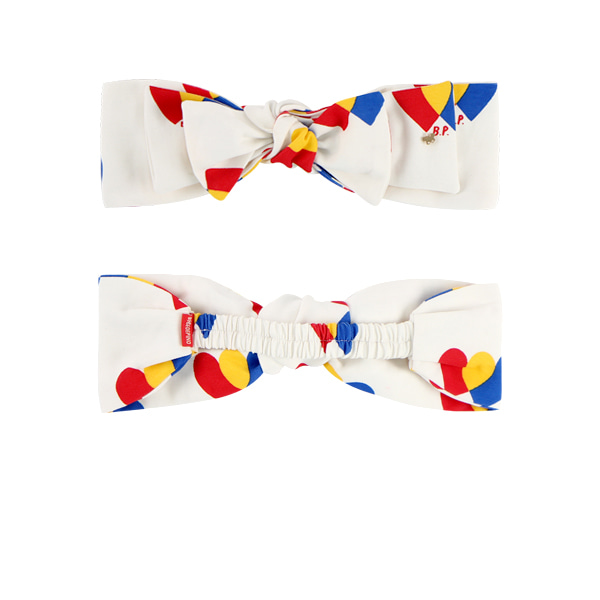Multi heart double ribbon headband