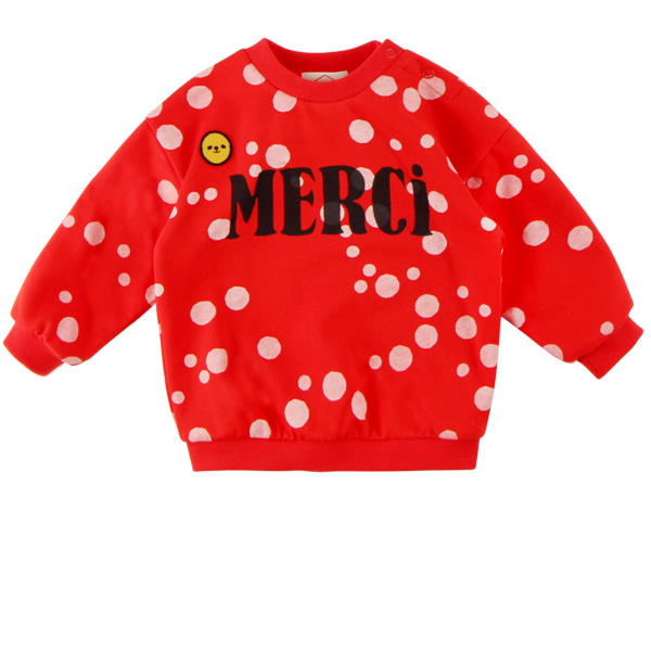 Multi sprinkle dots baby drop shoulder sweatshirts