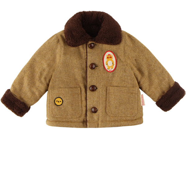 Bear baby harringbone check reversible jacket  NEW WINTER
