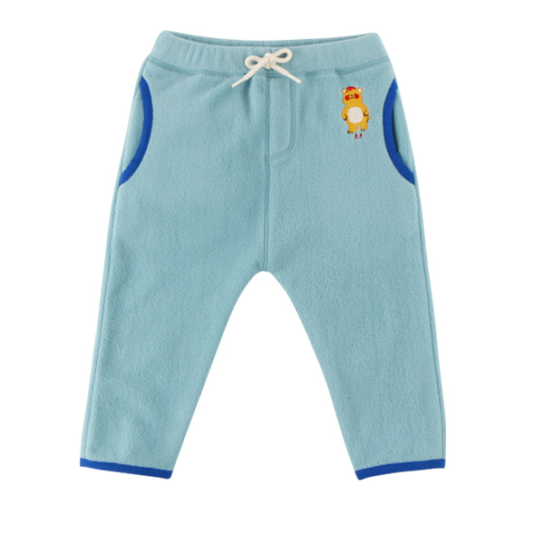 Bear baby polar fleece fur pocket pants