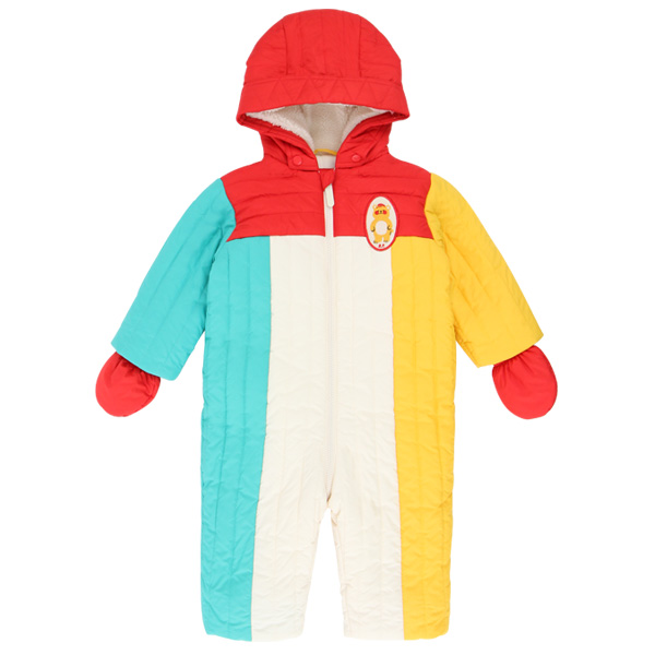 Bear baby color block padding overall  NEW WINTER