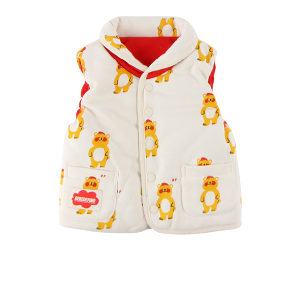 Multi bear baby reversible padding vest
