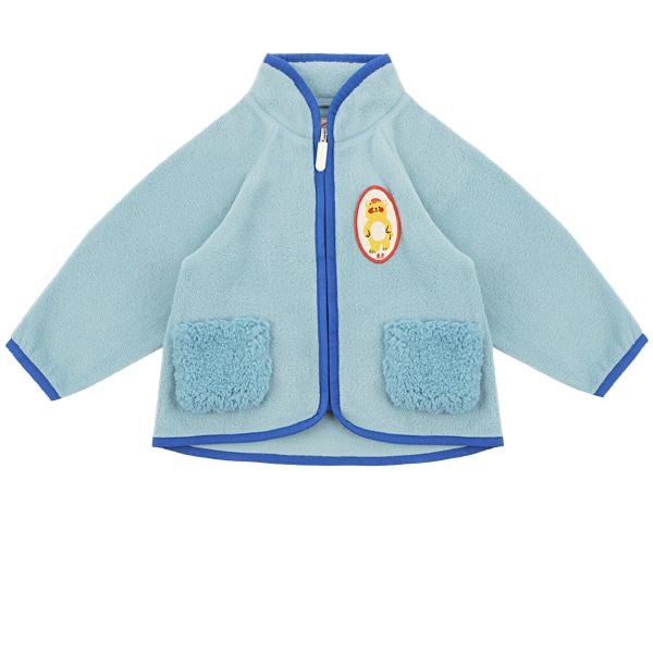 Bear baby polar fleece fur pocket jacket