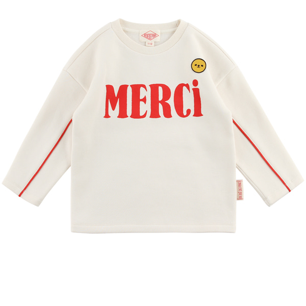 Merci drop shoulder long sleeve tee