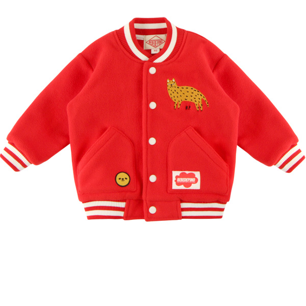 Cheetah baby fleece stadium jumper