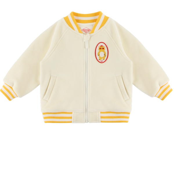 Bear baby velour raglan zip up jacket