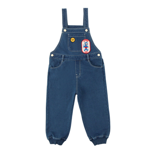 Astro cat jersey denim overall