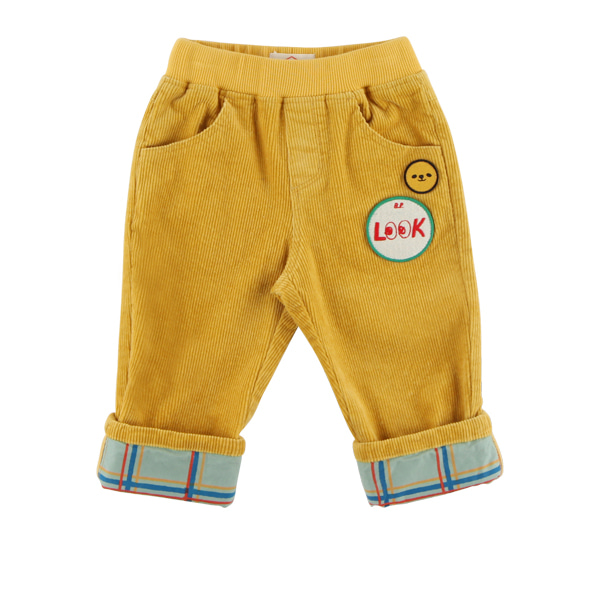 Look baby corduroy roll up pants