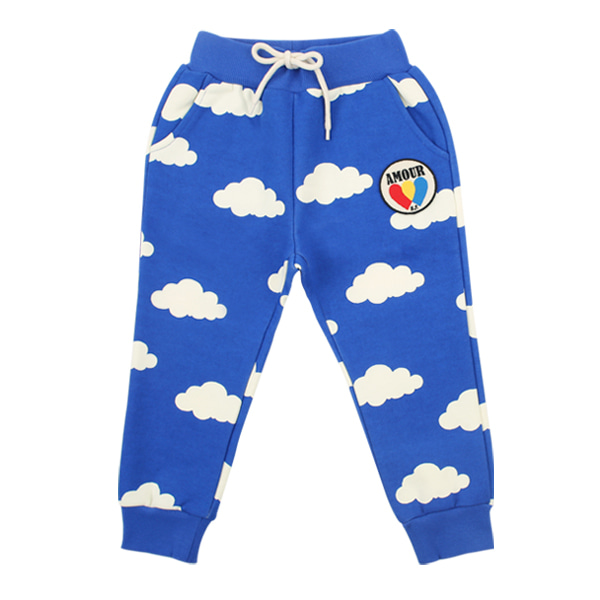 Multi cloud sweat pants