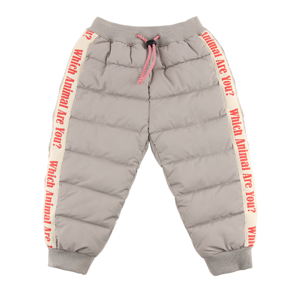 Lettering quilted jogger pants  NEW WINTER