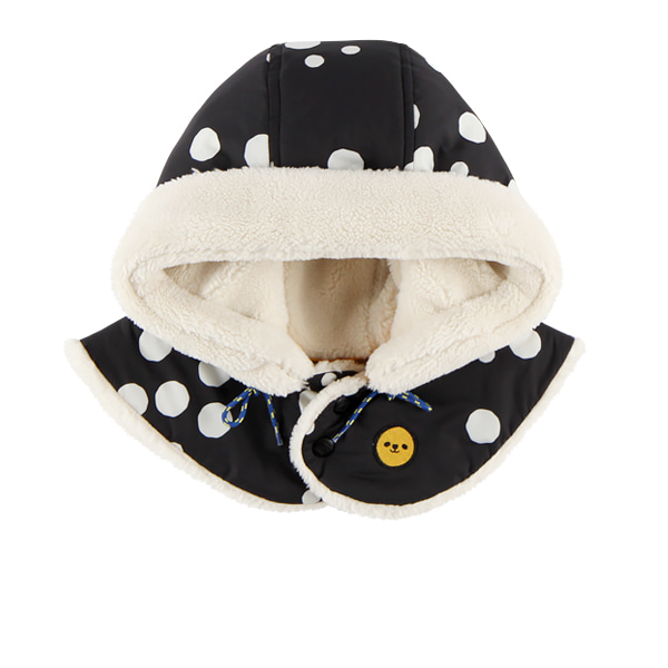 Multi sprinkle dots dumble fur hood warmer  NEW WINTER