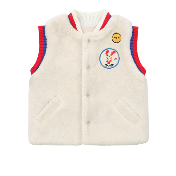 Merci baby colorblock fur vest  NEW WINTER