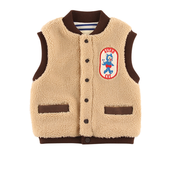 Astro cat baby dumble fur vest  NEW WINTER