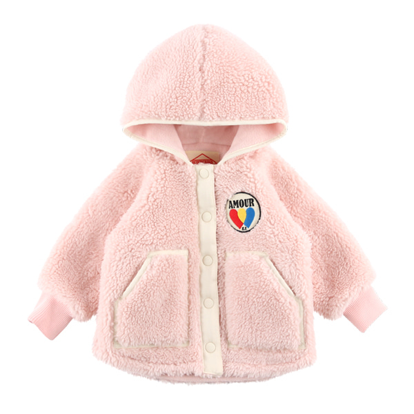 Amour baby dumble fur hood jacket  NEW WINTER