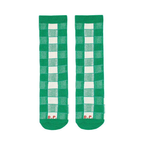 Green check knee socks  NEW SPRING