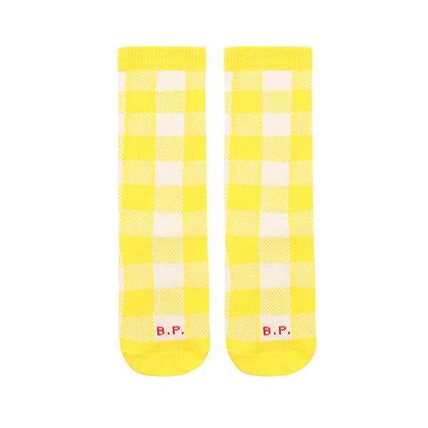 Yellow check knee socks  NEW SPRING