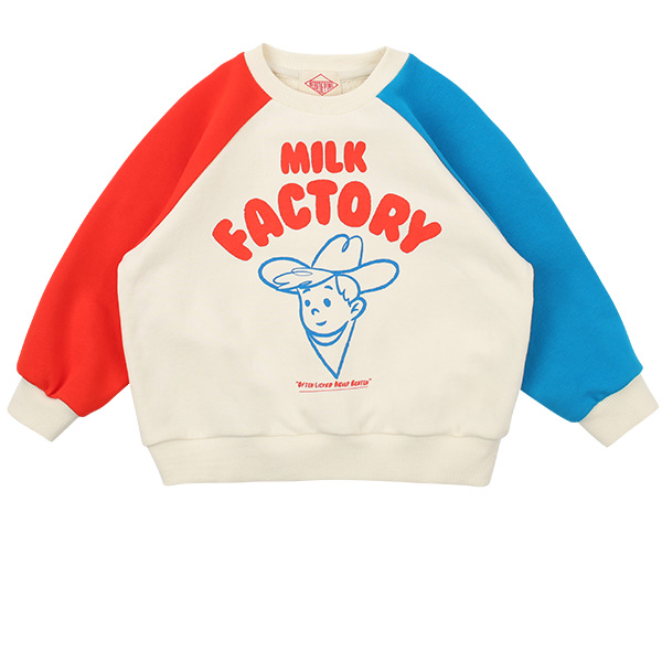 Milk factory color block raglan sweatshirt  NEW SPRING