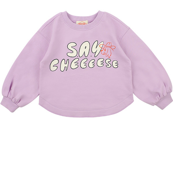 Say cheese puff sleeve sweatshirt  NEW SPRING
