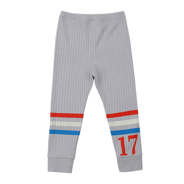 Number 17 stripe ribbed leggings