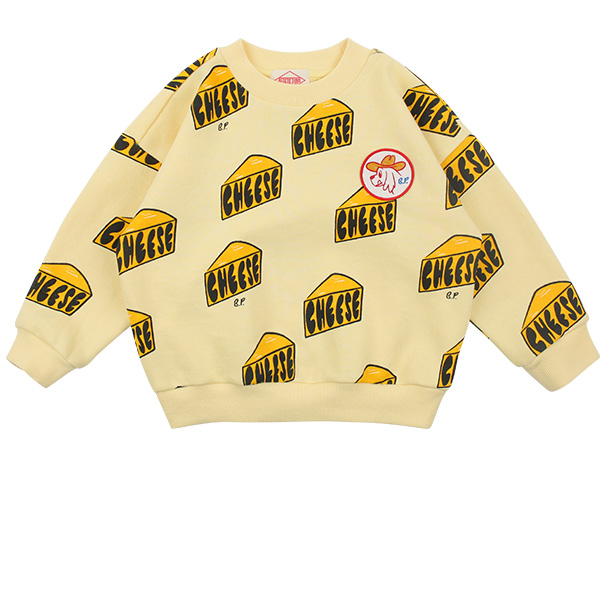 Multi cheese loose fit sweatshirt  NEW SPRING