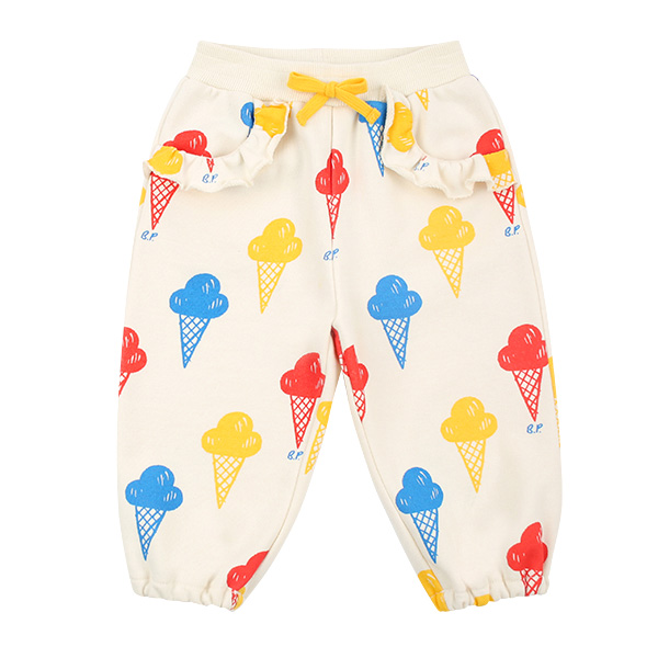 Multi ice cream baby ruffle sweatpants  NEW SPRING