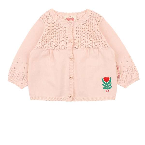 Tulip baby punching sweater cardigan