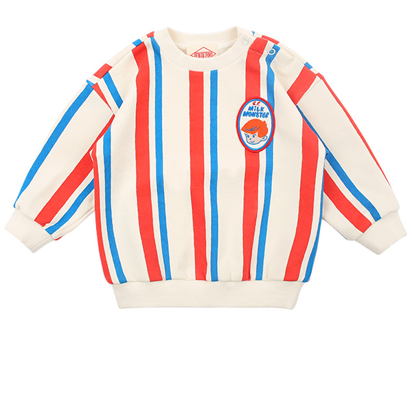Milk man baby multi stripe loose fit sweatshirts  NEW SPRING