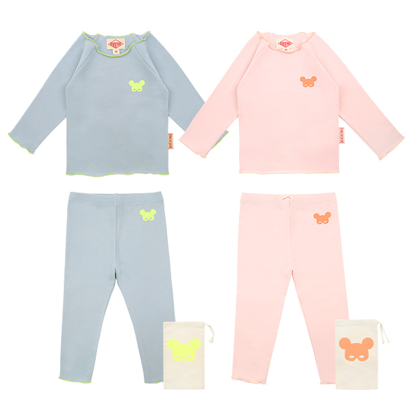Basic baby neon mask pino homewear set  NEW SPRING